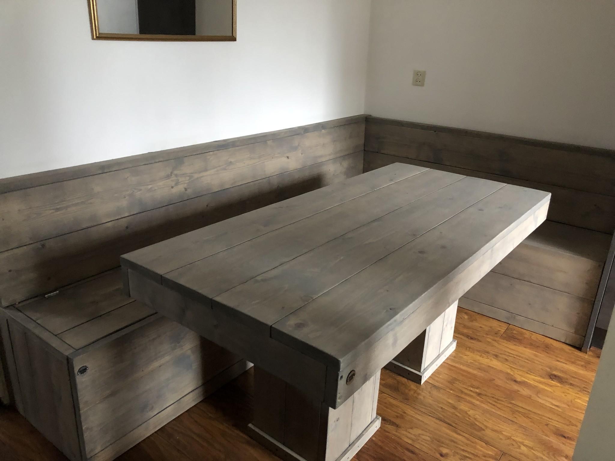 Famke Eettafel, Keukentafel van steigerhout