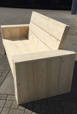 Loungebank van steigerhout