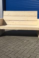 Alvega Loungebank van steigerhout: Model Alvega