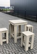 Vriezenveen Bartafel Set (Tafel en 4 krukken)
