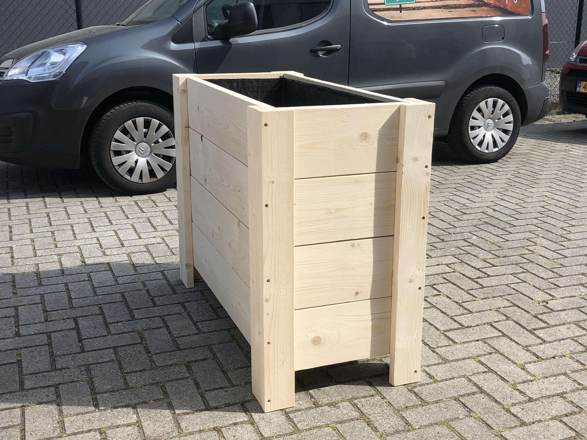 Hirs Plantenbak / Bloembak van steigerhout XL: Model Hirs