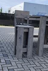 Wervershoof Barkruk van steigerhout met rugleuning: Model Wervershoof