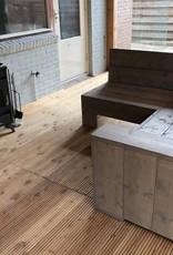 Steur Hoekbank van steigerhout: Model Steur