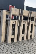 Wervershoof Barkruk van steigerhout met rugleuning