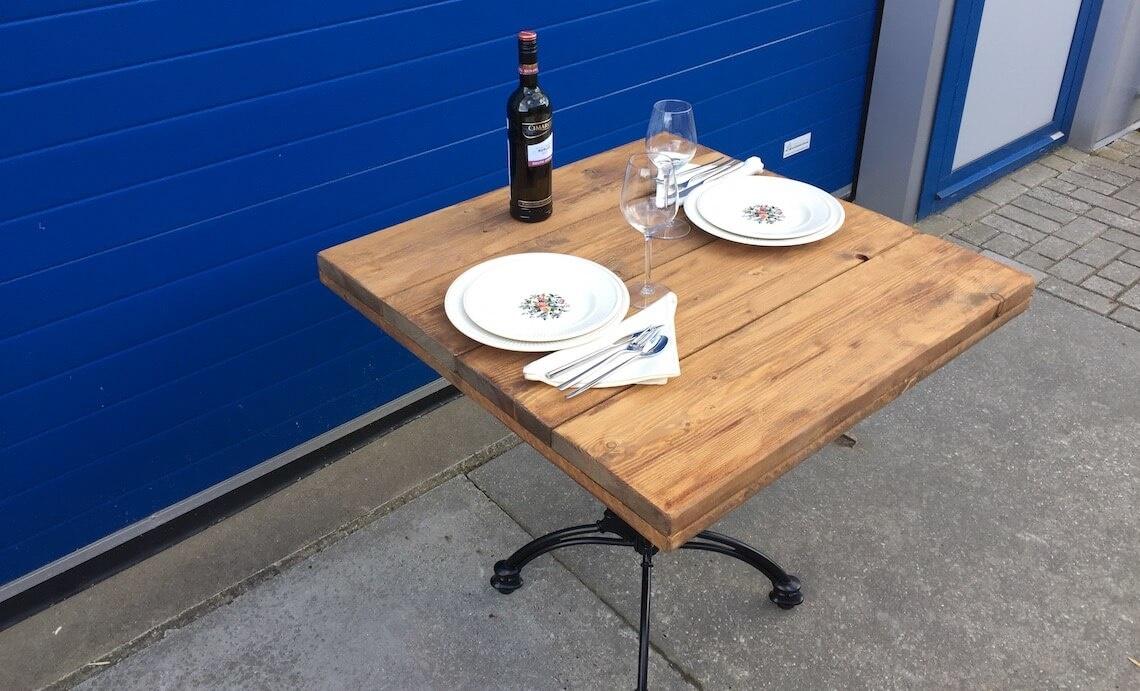 Steigerhouten horeca bistro tafel