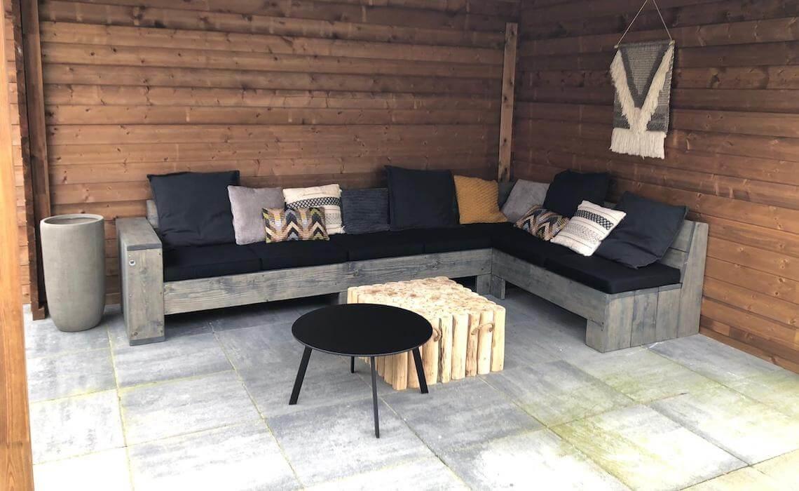 Loungeset van steigerhout
