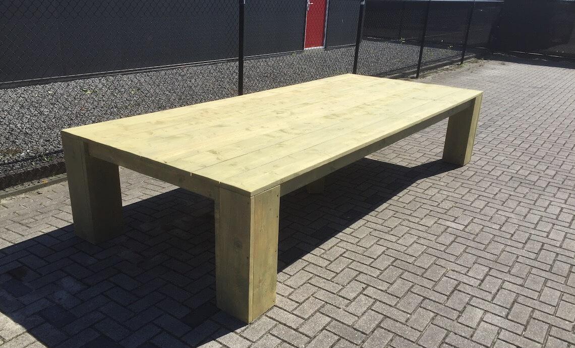 Steigerhouten tafel op maat