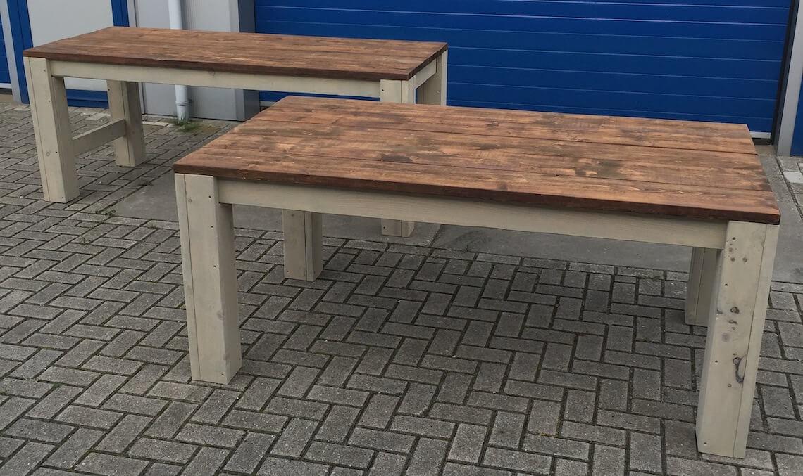 Maatwerk tafels van steigerhout