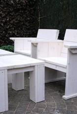 Spring Tuinset van steigerhout in white wash