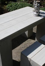 Beira Tuinset van steigerhout in grey wash