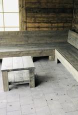 tom Hoekbank van steigerhout  op maat