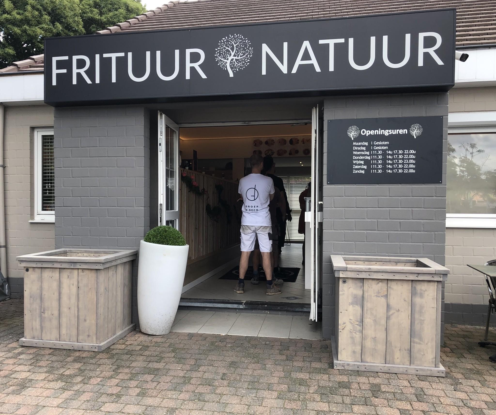 Natuur plantenbak / Bloembak van steigerhout XL : Model Natuur
