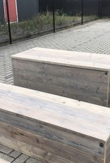 Elvas Dekenkist / Opbergkist van oud steigerhout en op maat gemaakt