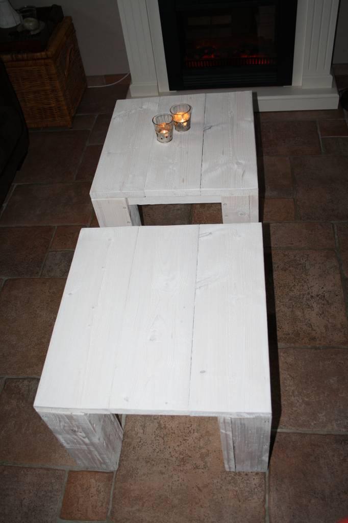 Karis Salontafel van steigerhout in white wash