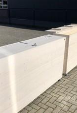 Elke Dekenkist / Opbergkist / terrasafscheiding op wieltjes