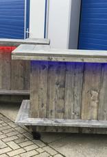 "Leonard Toog van steigerhout met Full Coulor LED verlichting  ""Special Edition"""