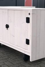 Erwin verrijdbare kast met deurtjes. Model: Erwin