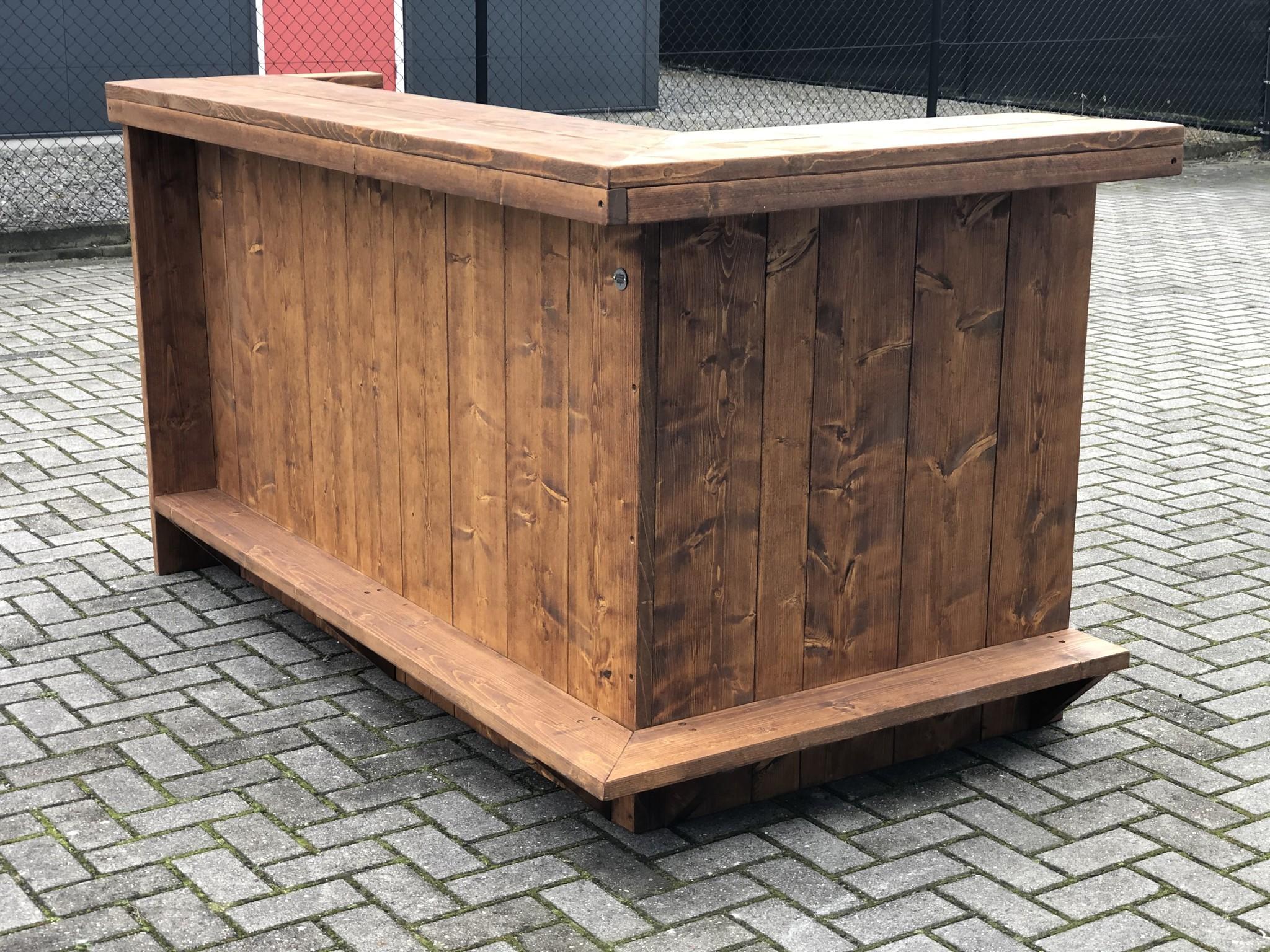 Everton Bar / Balie / Toonbank van steigerhout: Model  Everton