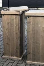 Ypie Zuil / Pilaar / Sokkel met opbergruimte van steigerhout : Model Ypie
