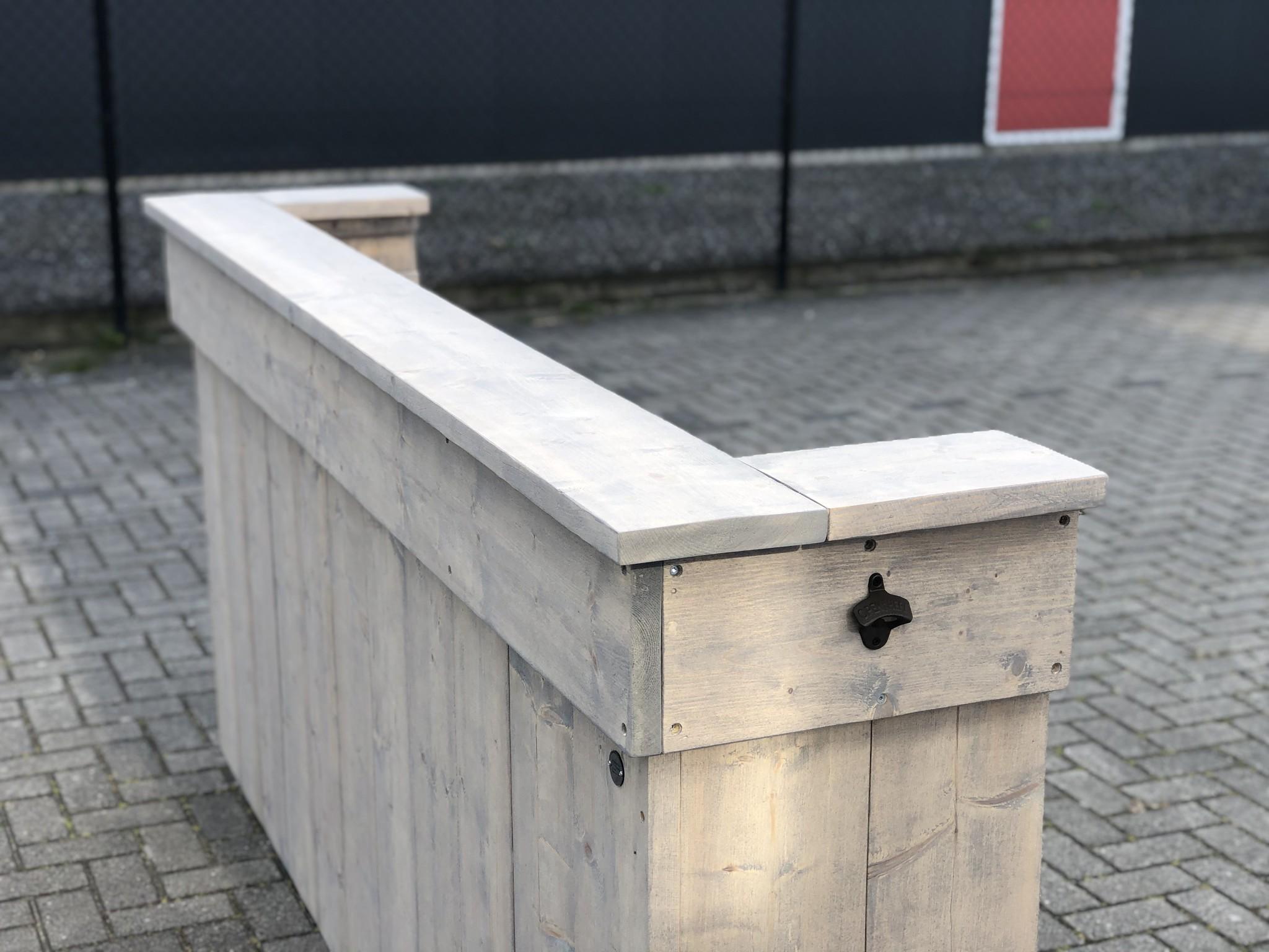 Leeds Bar / Balie / Toonbank van steigerhout: Model Leeds