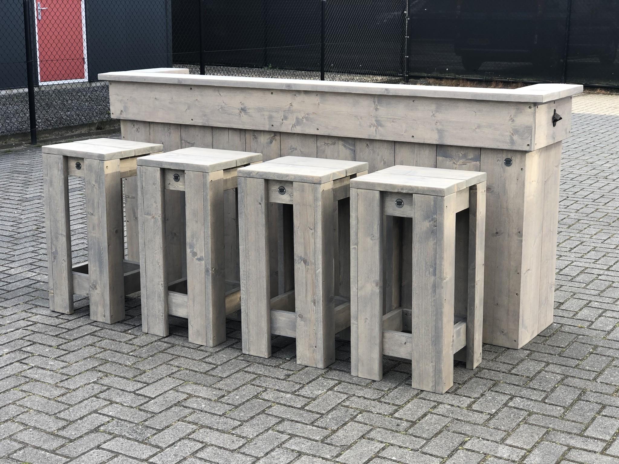 Leeds Bar / Balie / Toonbank van steigerhout