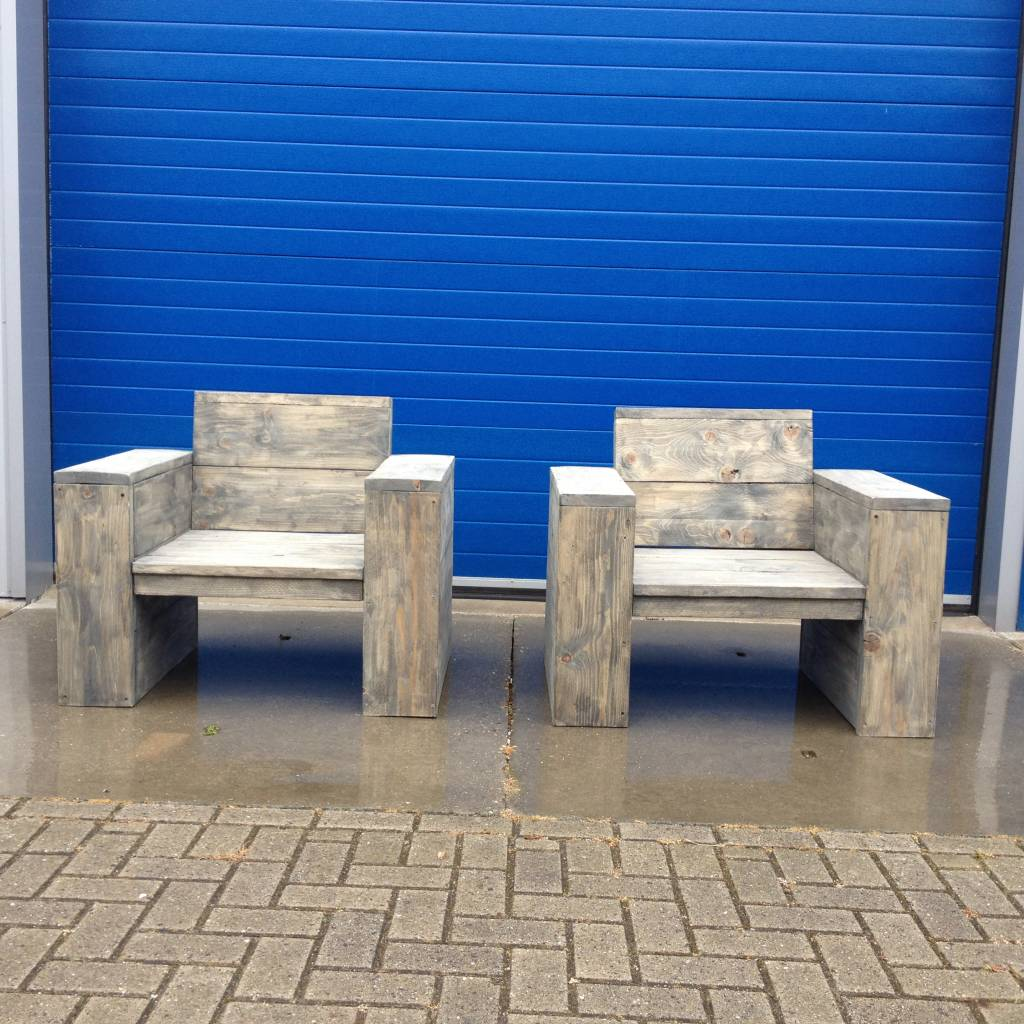 Kampen Lounge stoel van steigerhout: Model Kampen