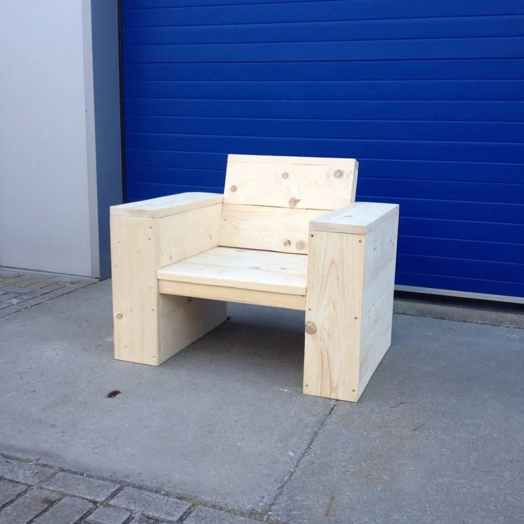 Kampen Lounge stoel van steigerhout