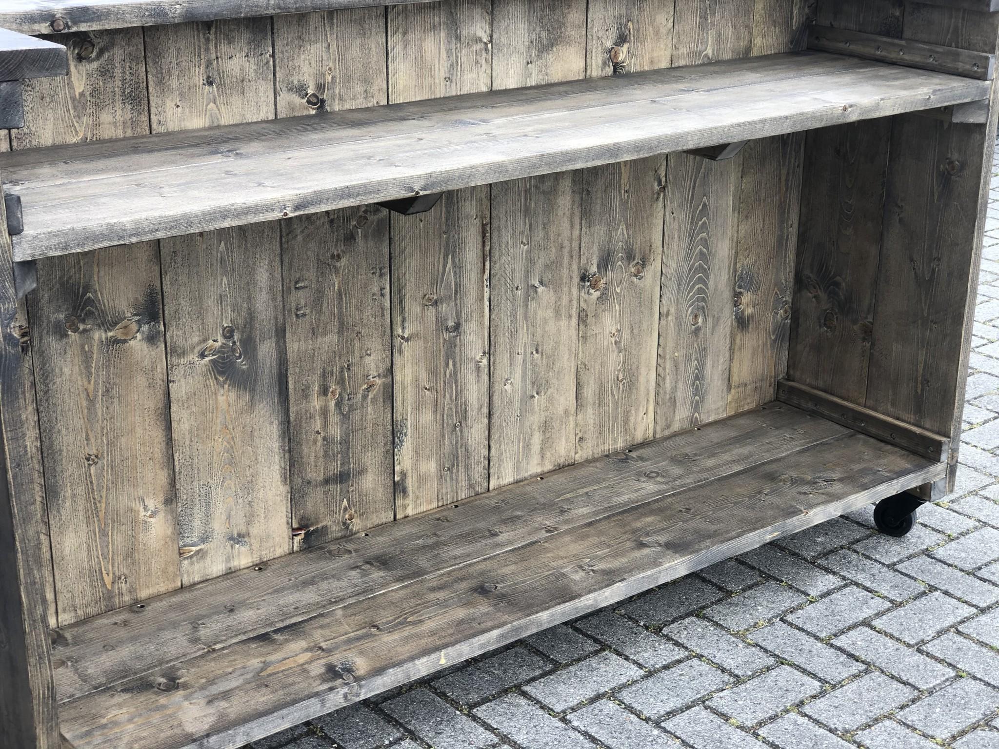 Leeds Verrijdbare Bar / Balie van steigerhout