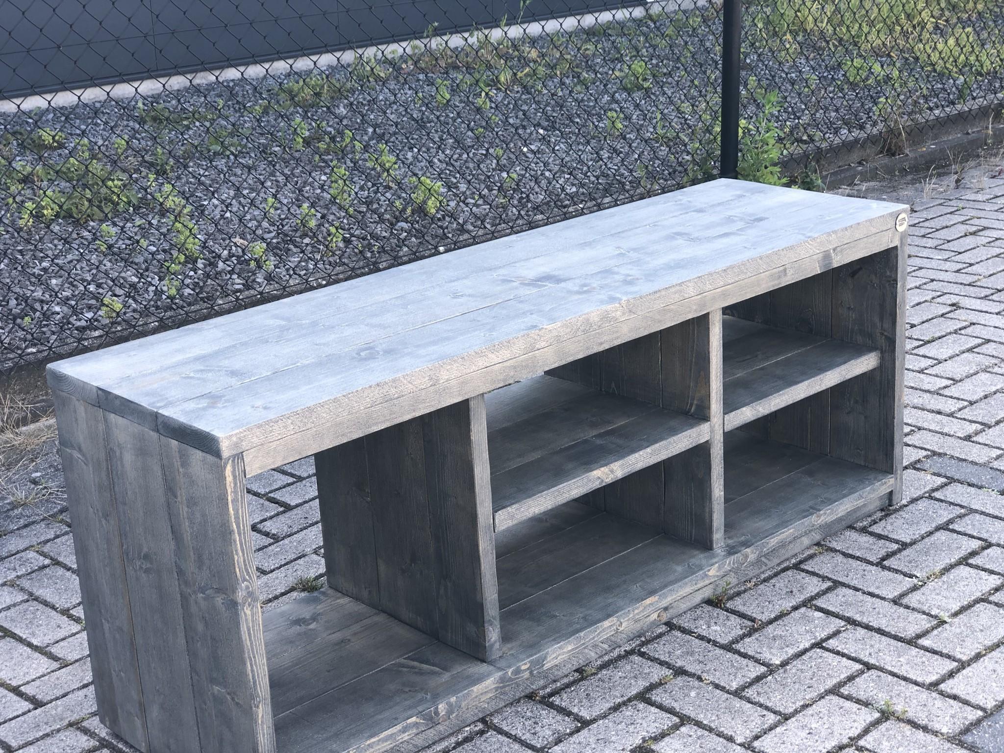 David Plus TV meubel van steigerhout