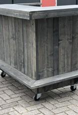 Luc van Vlaanderen extra Toog / Bar op wielen met kastje en extra legplank