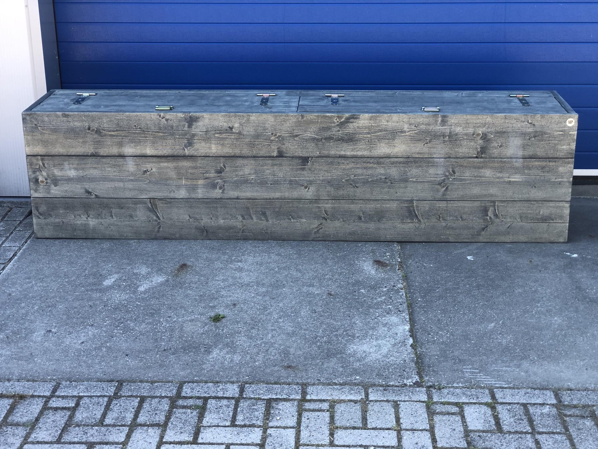Sam Dekenkist / Opbergkist / Bank met dubbele klep: Model Sam