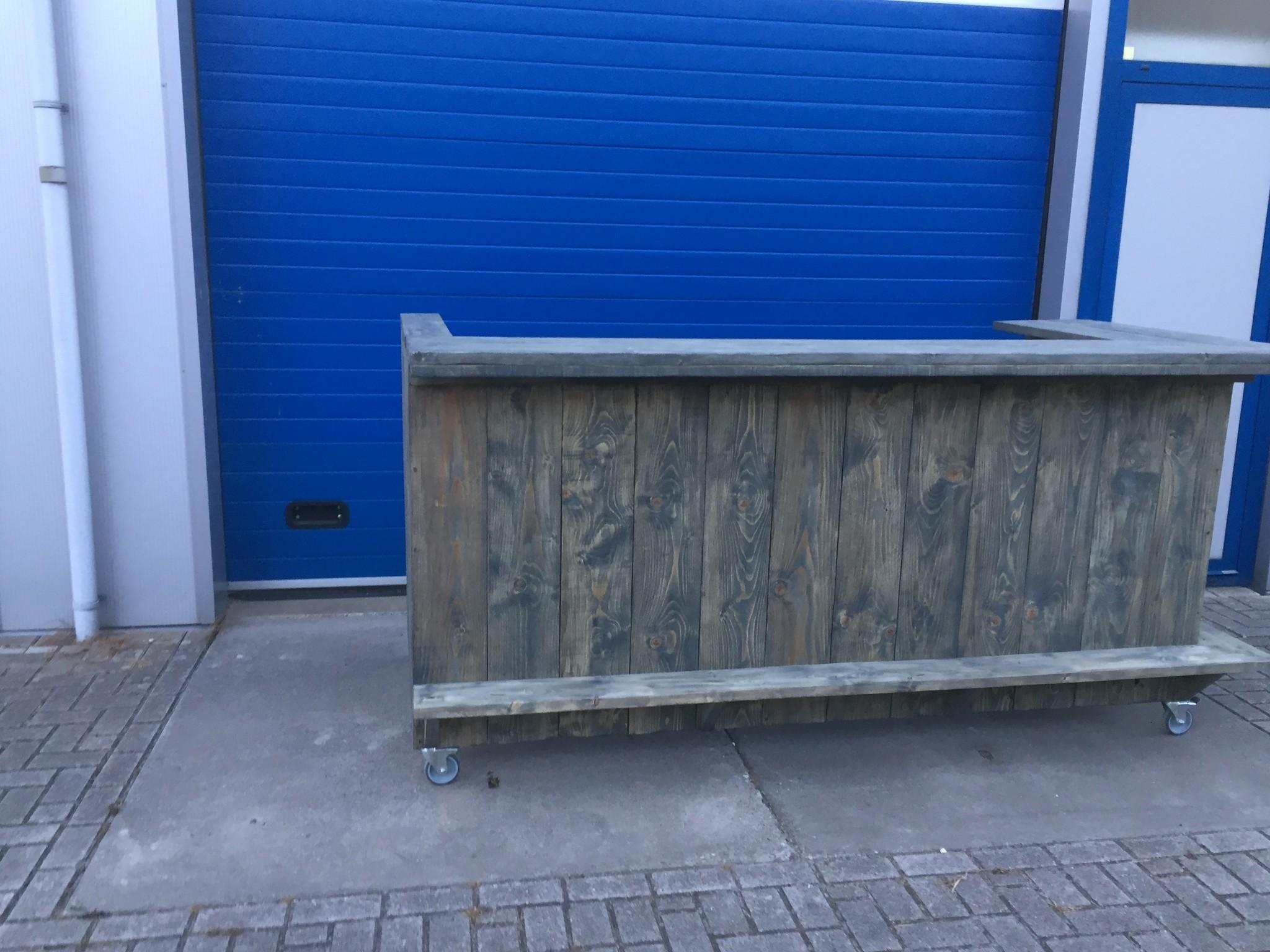 Londen Verrijdbare Bar/ Balie / Toog van steigerhout