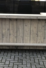 Luc van Vlaanderen Deluxe Toog / Bar op wielen met afsluitbaar kastje en extra legplank