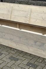 Bas Bank met bergruimte en leuning aan 1 kant: Model Bas
