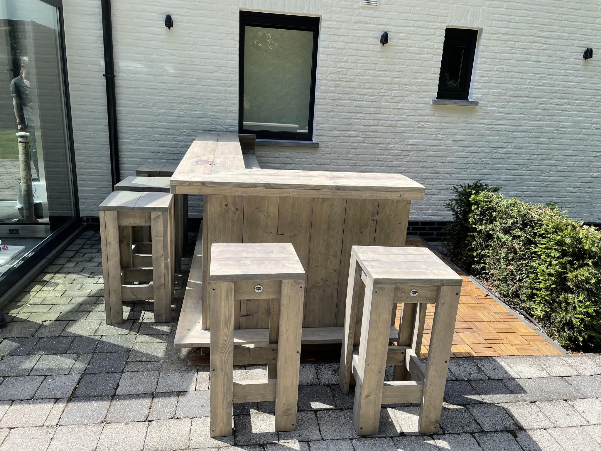 Everton XL Bar / Balie / Toonbank van steigerhout: Model  Everton  XL