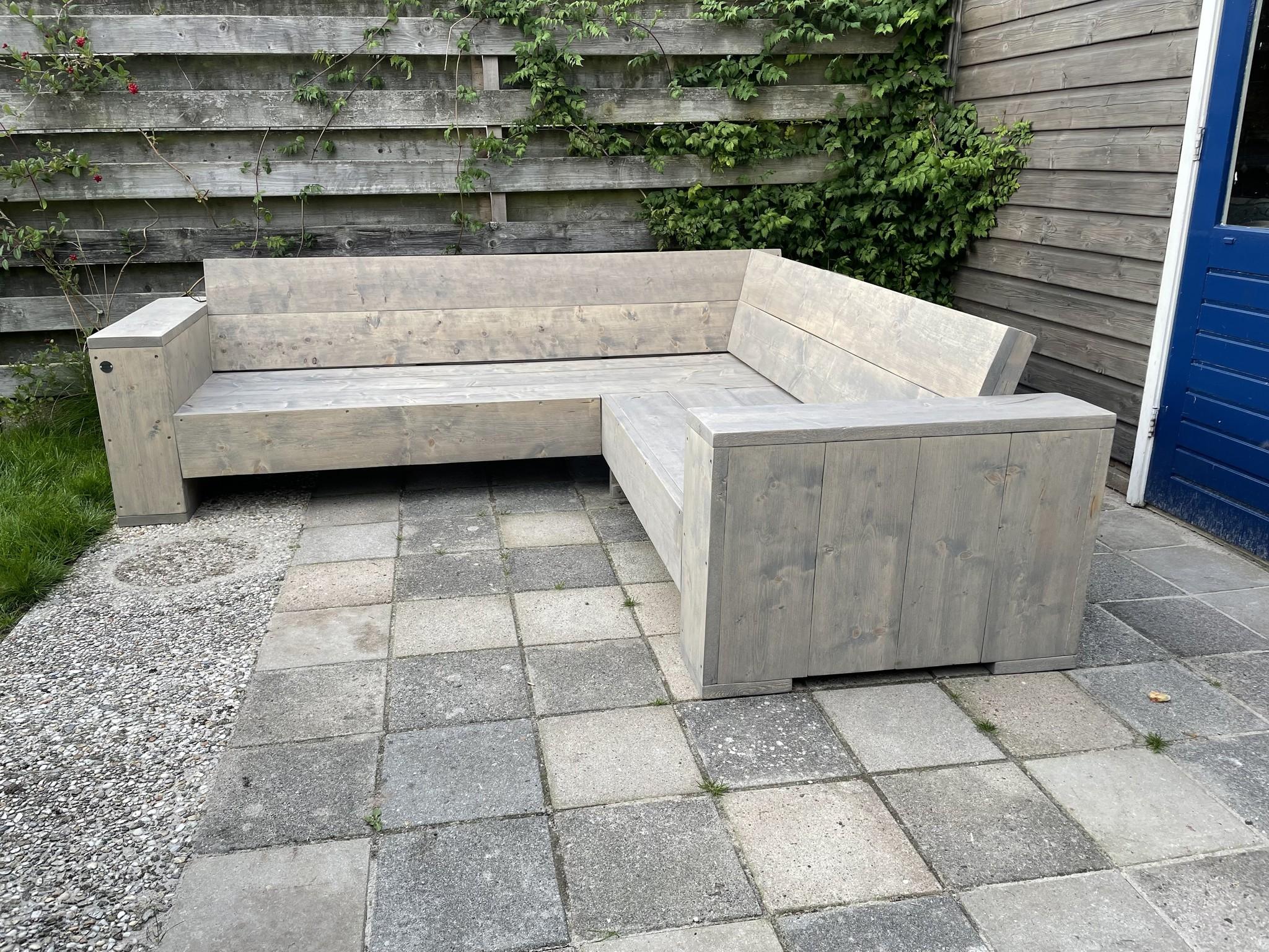 Gunster Hoekbank van steigerhout: Model Gunster