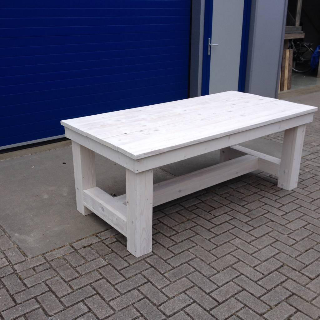 Eettafel White Wash.Kloostertafel Van Steigerhout Maatwerk Steigerhout