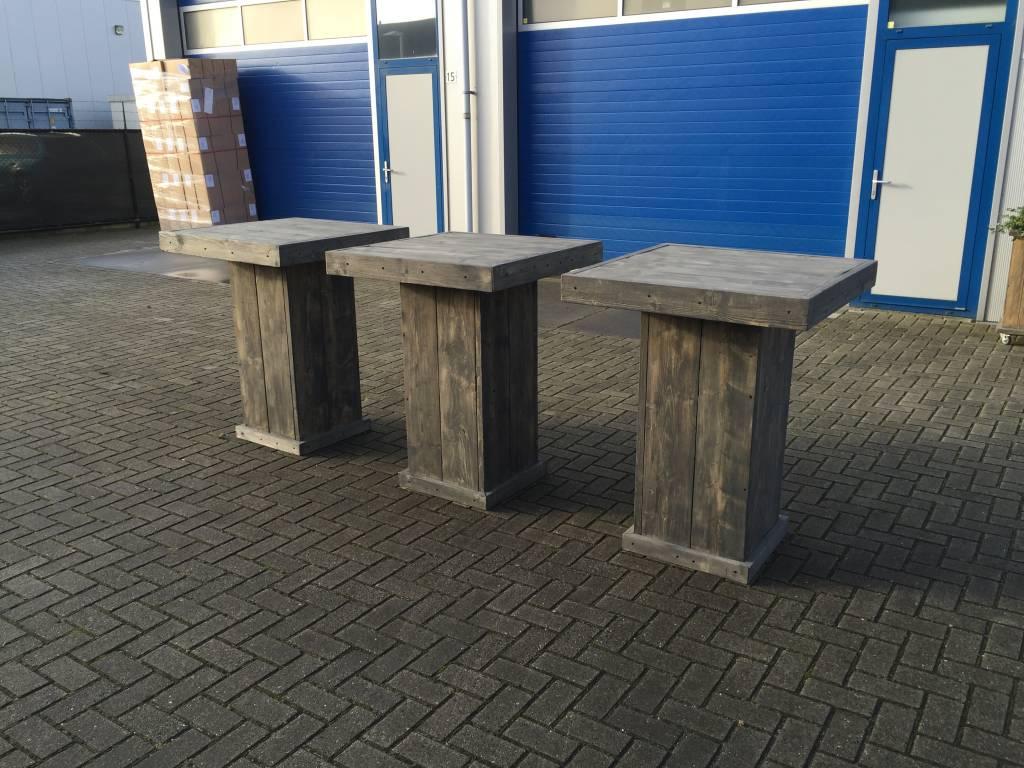 Iets Nieuws Bartafel van steigerhout in antraciet wash - Maatwerk Steigerhout QN39