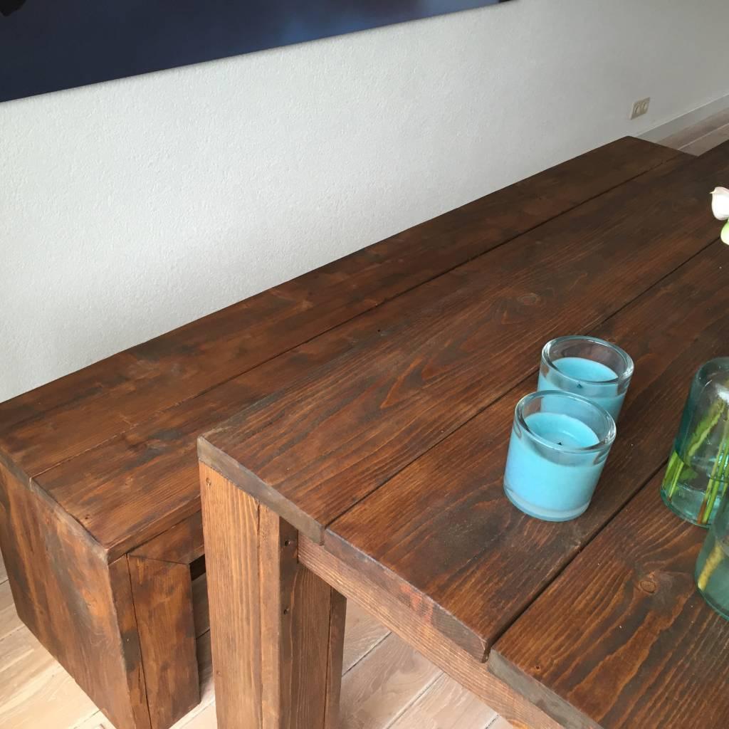Golf Eettafel set van steigerhout