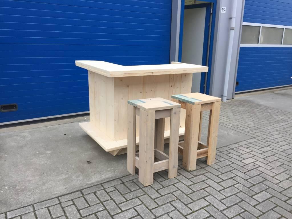 Bar / Balie van steigerhout