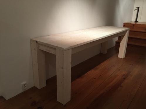 Smalle Tafel van steigerhout