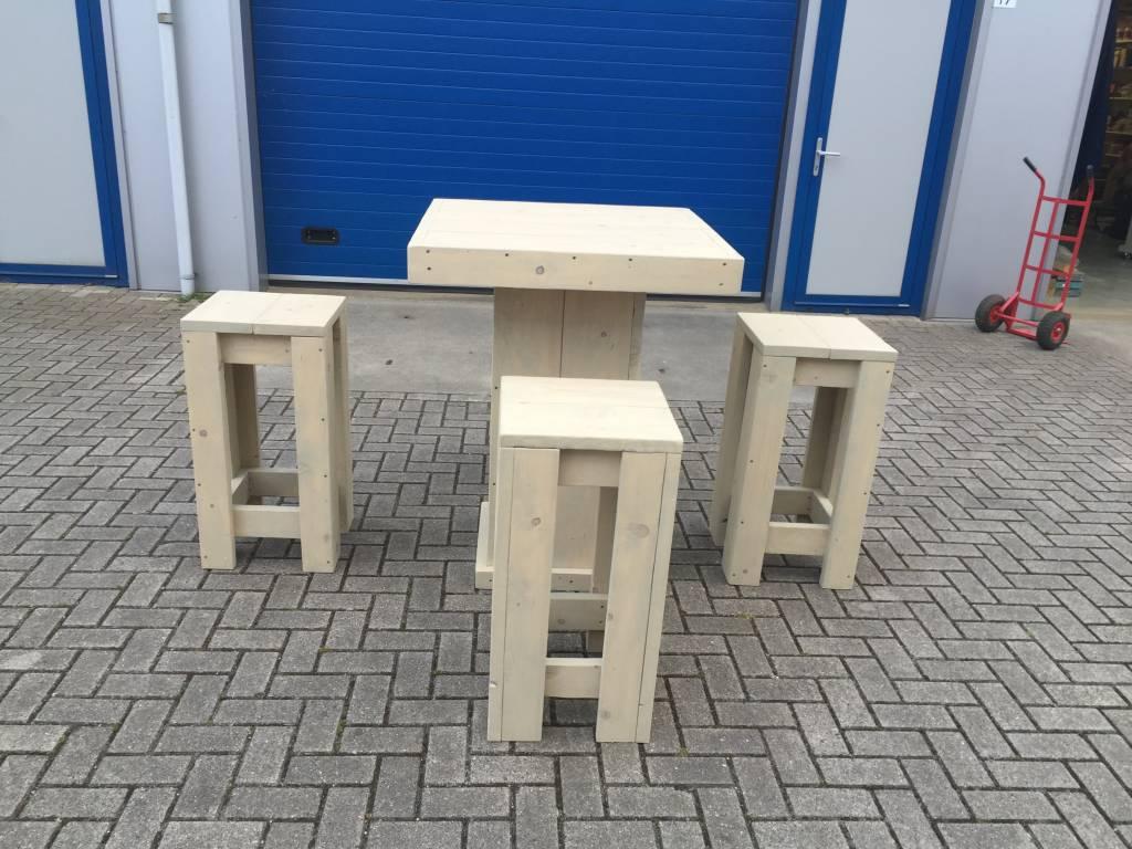 Bartafel Set (Tafel en 4 krukken)