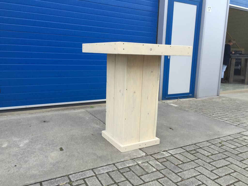 Johnny Bartafel van steigerhout in antraciet wash
