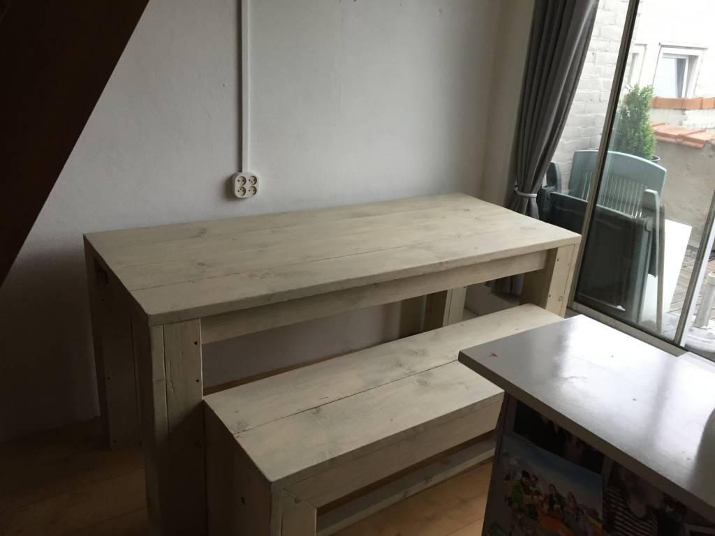 Polder Spring Eettafel met bijpassende bank voor in de kleine ruimte