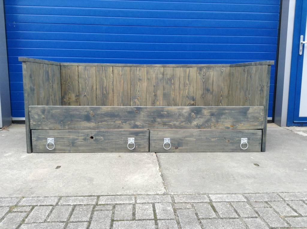 Bed / Kajuitbed van steigerhout