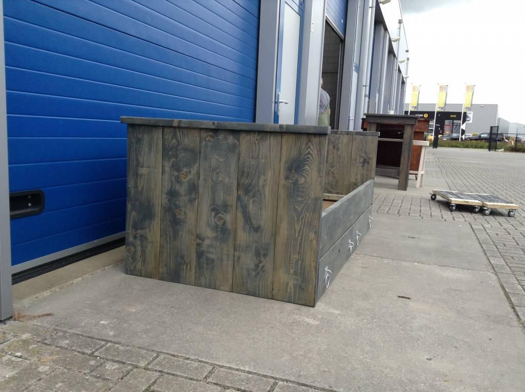 Beverwijk Bed / Kajuitbed van steigerhout: Model Beverwijk