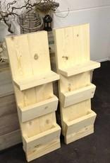 nachtkastje / hangkastje van steigerhout