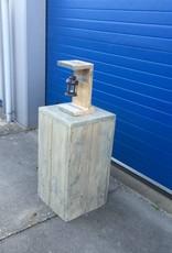 Cayenne Zuil / Pilaar / Sokkel van steigerhout: Model Cayenne