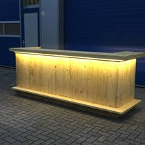 Gerben Bar / Balie van steigerhout met een waterproof LED verlichting: Model Gerben