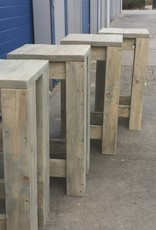 Barkruk van steigerhout